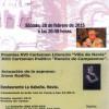 Entrega de premios del Certamen Literario Villa de Navia