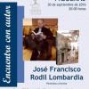 José Francisco Rodil Lombardía en la biblioteca de Figueras