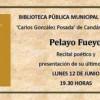 Recital poético de Pelayo Fueyo en la Biblioteca de Candás