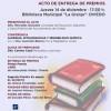 Entrega de premios del I Concurso de Relatos Cortos de la Fundación Científica Manuel González