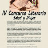 Convocado el IV Concurso Literario 'Salud y Mujer'