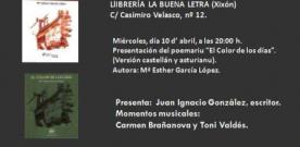Esther García presenta su poemario 'El color de los dias' en La Buena Letra