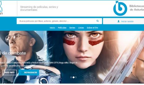 El préstamo de películas 'online' llega a las bibliotecas publicas asturianas