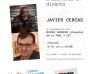 Encuentro literario con Javier Cercas en el Canal de YouTube de la Red Municipal de Bibliotecas de Gijón
