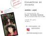 Encuentro literario con Aurora Luque organizado por la Red  Municipal de Bibliotecas de Gijón