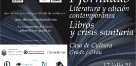 """I Jornadas """"Literatura y edición contemporánea. Libros y crisis sanitaria"""""""